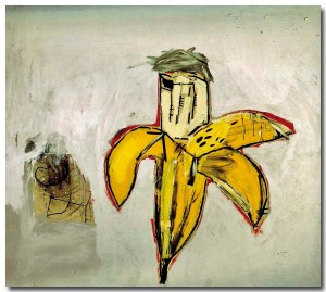 Basquiat-portrait-OfWarhol-asBanana-1984
