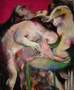 Carla Peria (b 1979, Argentina) - Escondidas - oleo sobre tela - 2009
