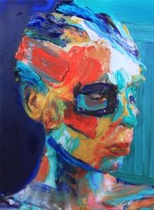 Peinture-photographie de Sophie Derrick